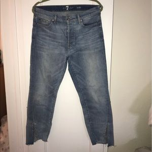 7FAM High Waist Edie Chained Jeans